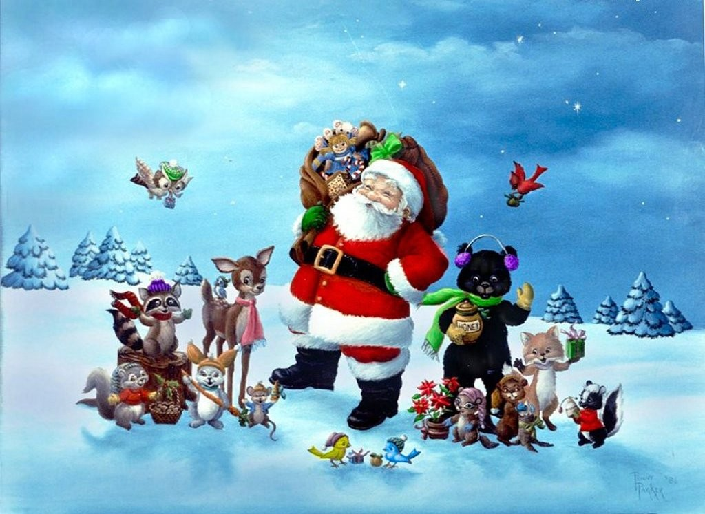 christmas santa wallpaper, nightmare befoer christmas computer wallpaper, yahoo christmas wallpapers