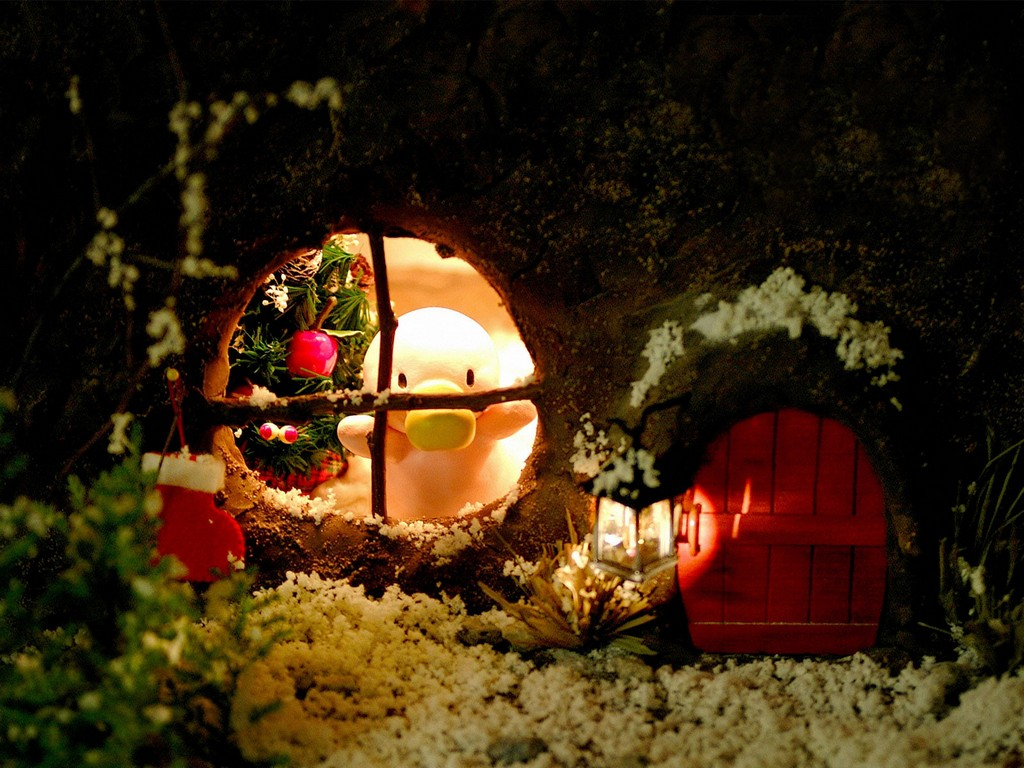 christmas village, christmas ornaments
